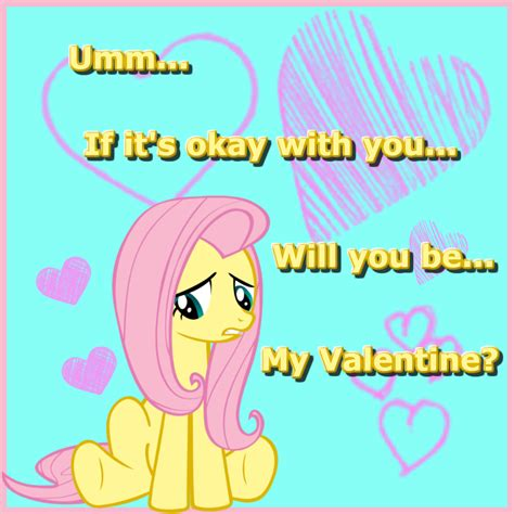 my pony valentines my pony fluttershy by neko jake on