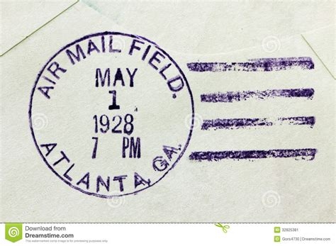 tattoo paper office max us air mail postmark stock image image 32825381
