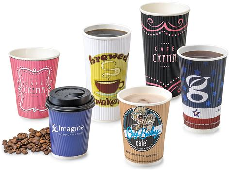 Handcrafted Coffee - custom logo disposable coffee cups 12 000 vector logos