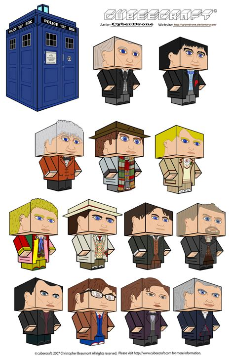 Dr Who Papercraft - doctor who custom cubeecraft templates by cyberdrone on