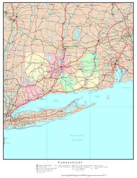 us map connecticut connecticut political map