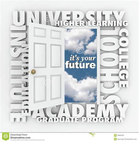 Education Open Doors by College Words Open Door To Your Future Stock