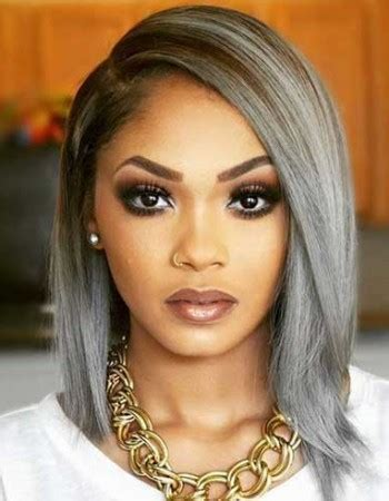 young black women with gray hair styles bob hairstyles for black women 2015 2016 growing hair