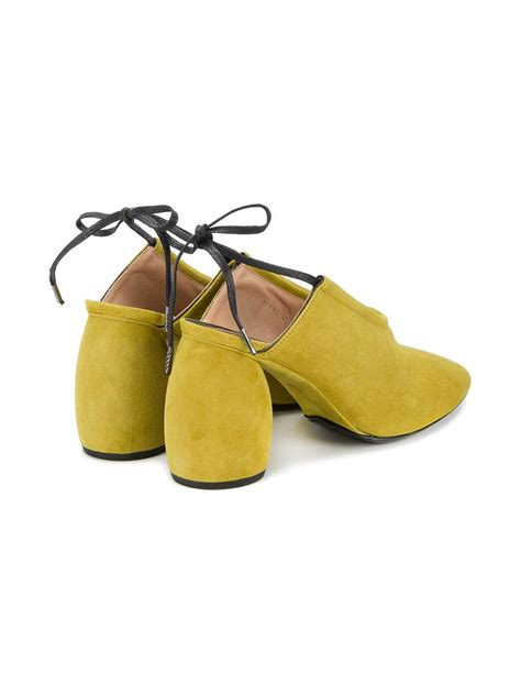 lyst dries noten slingback mules leather suede 35 in yellow