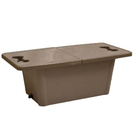 pontoon boat table premier marine plastic pontoon boat sliding storage table cooler vprm ble0401mr ebay