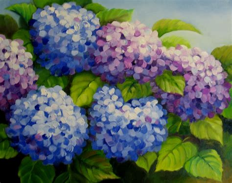 nel s everyday painting triple hydrangeas and a lesson sold nel s everyday painting hydrangea bush sold