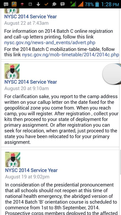 Nysc Request Letter Sle Nysc 2014 Batch B 2 Cing Information For Living