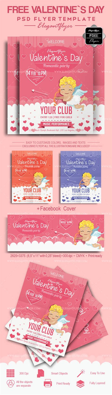 vakentine card photoshop template s day free flyer psd template by