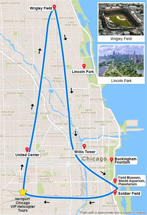 chicago map landmarks helicopter tour of chicago 15 minutes adrenaline