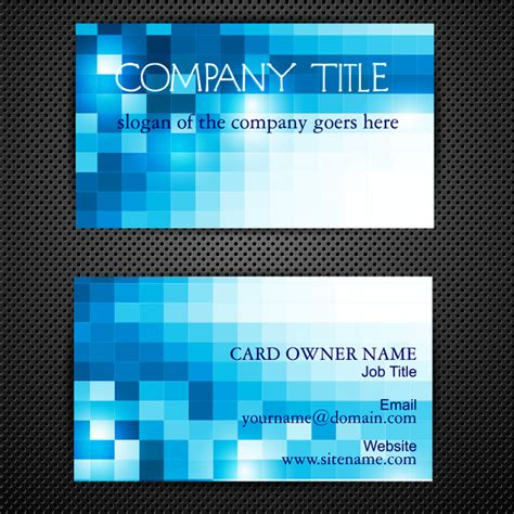 square business card template illustrator abstract blue square business card templates free vector