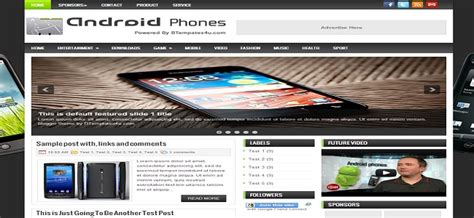 templates blogger android android phones blogger template best blogger templates
