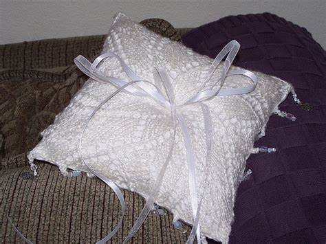 perhaps a knit pillow for the ring bearer s wedding