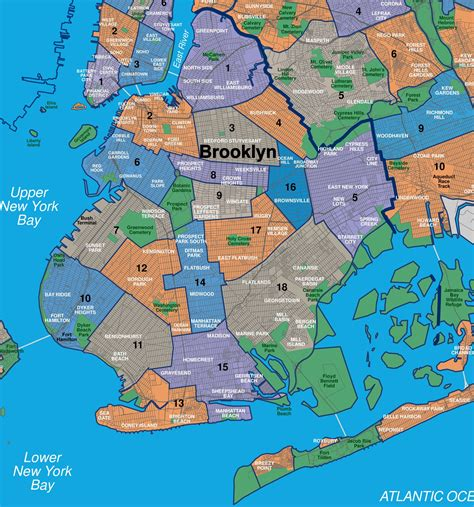 sections of new york city map of brooklyn map of brooklyn neighborhoods map of