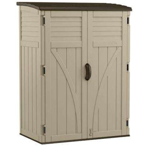 Rubbermaid 2 Ft X 2 Ft Vertical Storage Shed by Outdoor Storage Sheds Garages Outdoor Storage The