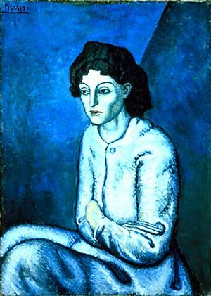 picasso paintings blue picasso s blue period with crossed arms fujii h
