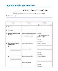 templates for minutes of meetings and agendas minute template 20 free word pdf documents