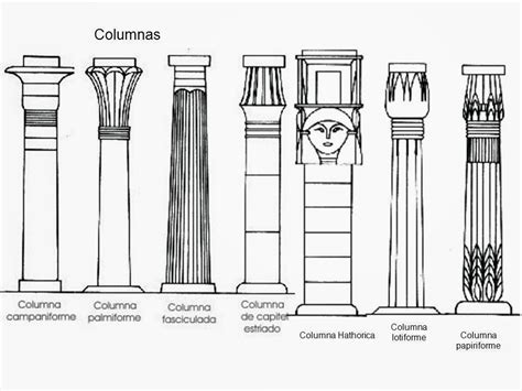 imagenes de columnas egipcias historia del arte