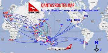 australian airlines qantas routes map