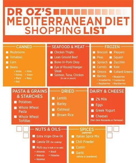 printable diet recipes mediterranean diet healthy living pinterest a