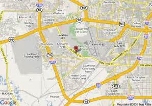 map of lackland travelodge san antonio