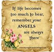 Popular Angel Quote  If Life Becomes Too Much To Bear Remember Your