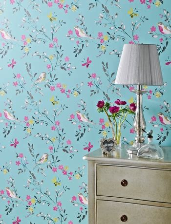 Bedroom Wallpaper Birds I Would Totally Use This Wallpaper Home Decorations