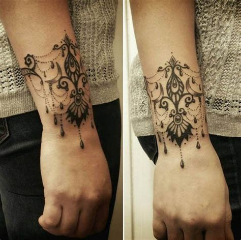 victorian tattoo lace wrist designs on lock