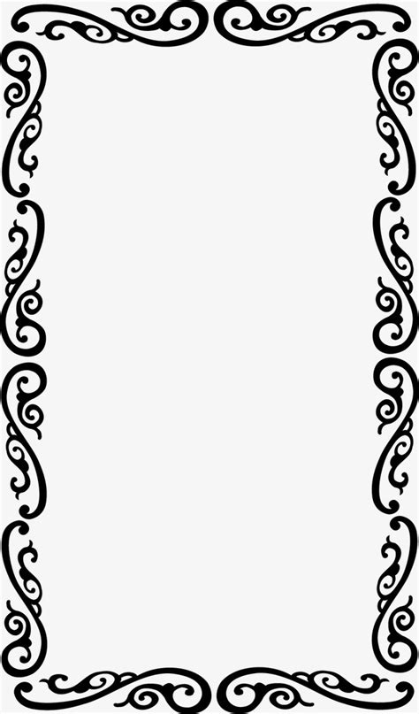 patterns black and white border flower vine border european compact borders pattern