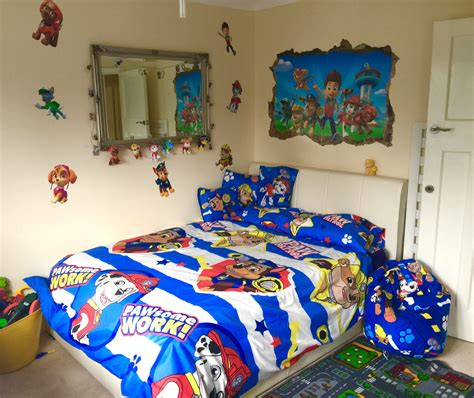 Paw Patrol Room Decor by Toddler Paw Patrol Theme Room From Single Bed To