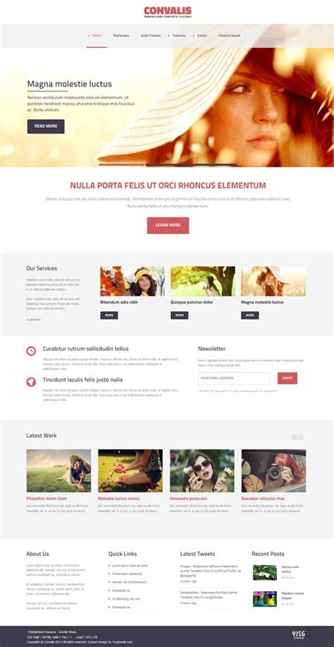template joomla responsive 2 5 free convalis responsive blog template for joomla 3 x and