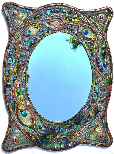 sold mosaic peacock mirror mosaic real peacock - Mosaik Spiegel