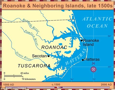 roanoke carolina map what happened to the lost colonists of roanoke daily