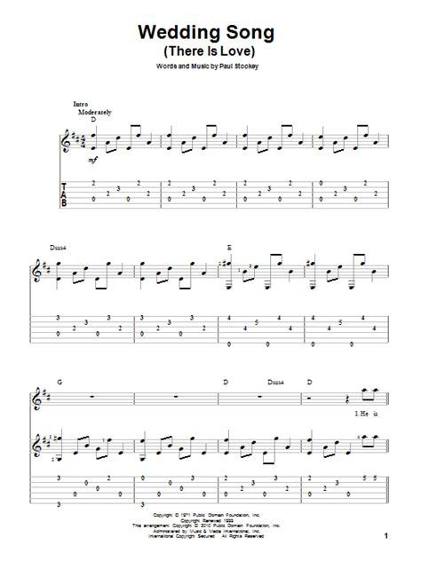 Wedding Song Guitar Chords by Wedding Song There Is By Paul