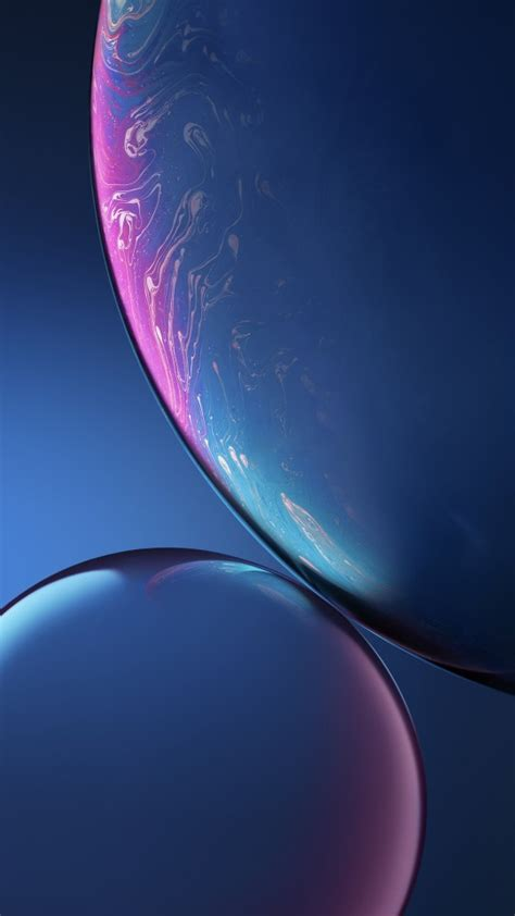 blue bubbles iphone xr stock wallpapers hd wallpapers