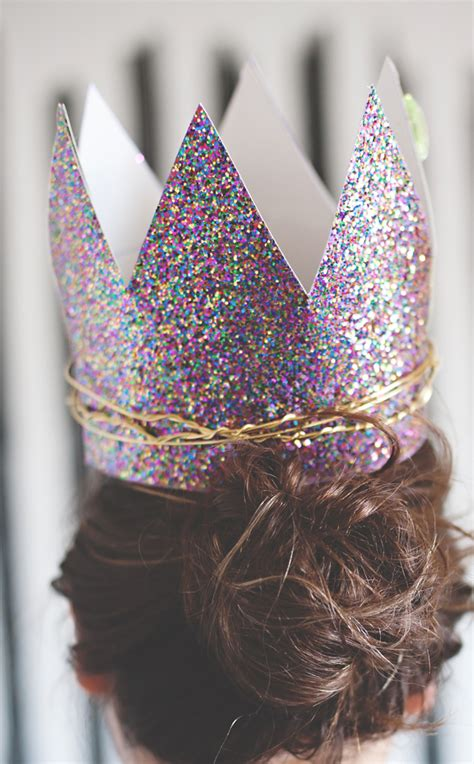 How To Make A Birthday Crown Out Of Paper - glitter twist birthday crowns a subtle revelry