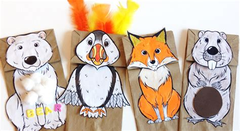 How To Make Animal Puppets With Paper - 59 paper bag puppets guide patterns