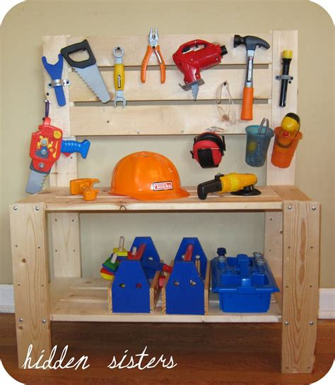boys wooden tool bench diy inspiration a children s tool bench