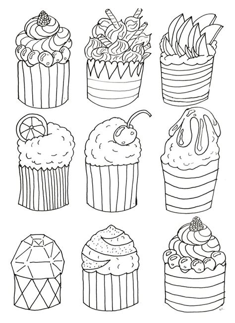 easy coloring pages to print for adults 24 best images about cup cakes coloring pages on pinterest
