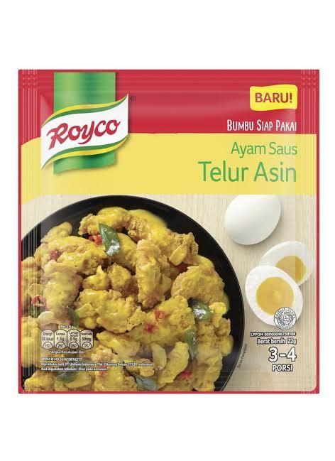 royco bumbu siap pakai ayam saus telur asin masak