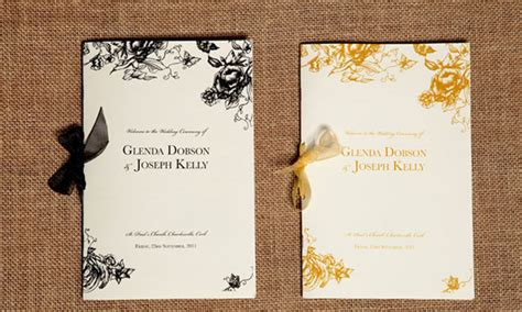 layout of wedding mass booklet blog ceremony booklets wedding stationery from