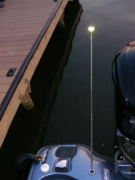 motorized telescoping stern light piv lighted hand rails first pics and motorized