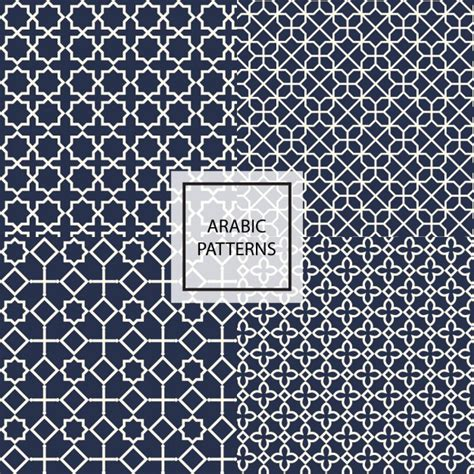arabic pattern ai dark blue arabic pattern vector free download