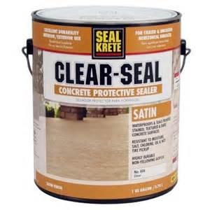 concrete sealer home depot seal krete 1 gal satin clear seal concrete protective