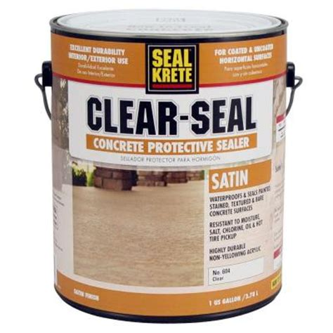 exterior d seal paint seal krete 1 gal satin clear seal concrete protective