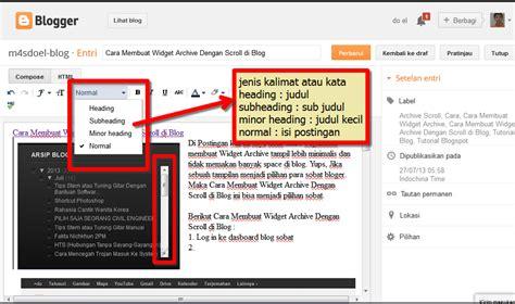 cara membuat video tulisan dan gambar cara membuat post dan fungsi tool di blog m4sdoel blog