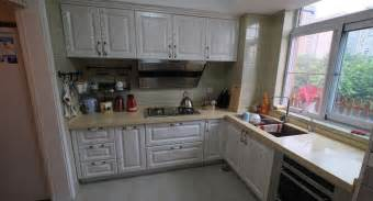 Kitchen Cabinets L Shaped White L Shaped Kitchen Cabinets Design