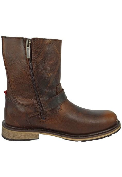 brown motorcycle boots harley davidson karl mens brown leather side zip buckle