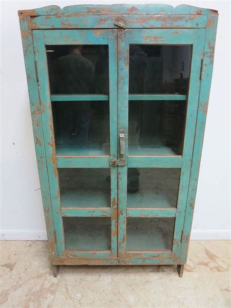 china cabinet glass doors antique primitive indian reclaimed hutch glass door china