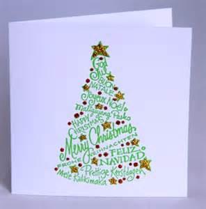 a handmade christmas card with tree handmade by helen