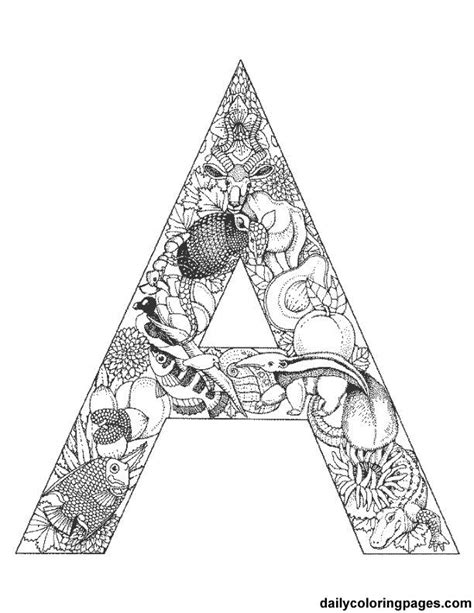 alphabet coloring pages with animals a animal alphabet letters to print png 612 215 792